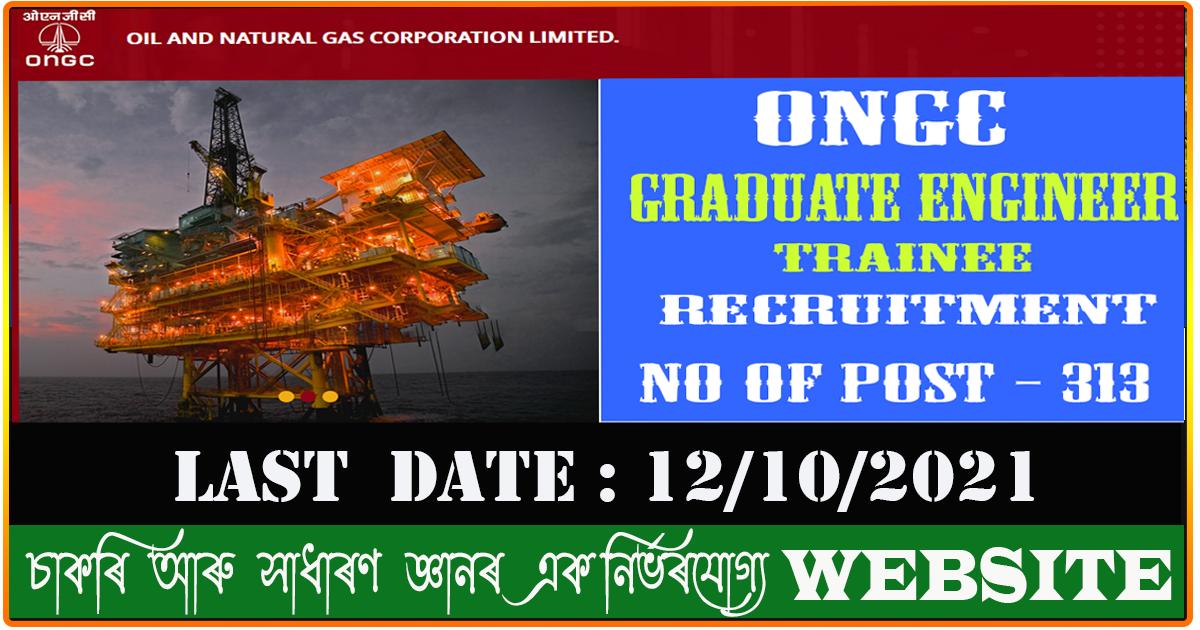 ONGC Recruitment 2021 - Apply for 313 GET vacancies