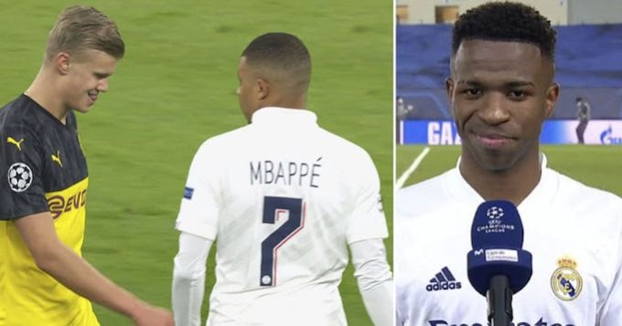 Vinicius wants to stay even if Mbappe and Haaland come Madrid