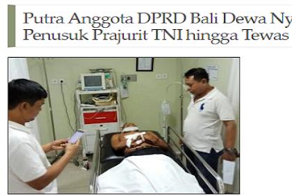 Bunuh Prajurit TNI, Pria Ini Ternyata Putra Kader PDI P