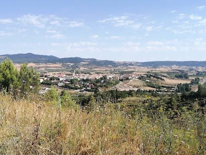 Obanos desde la carretera que sube a la ermita de Arnotegui