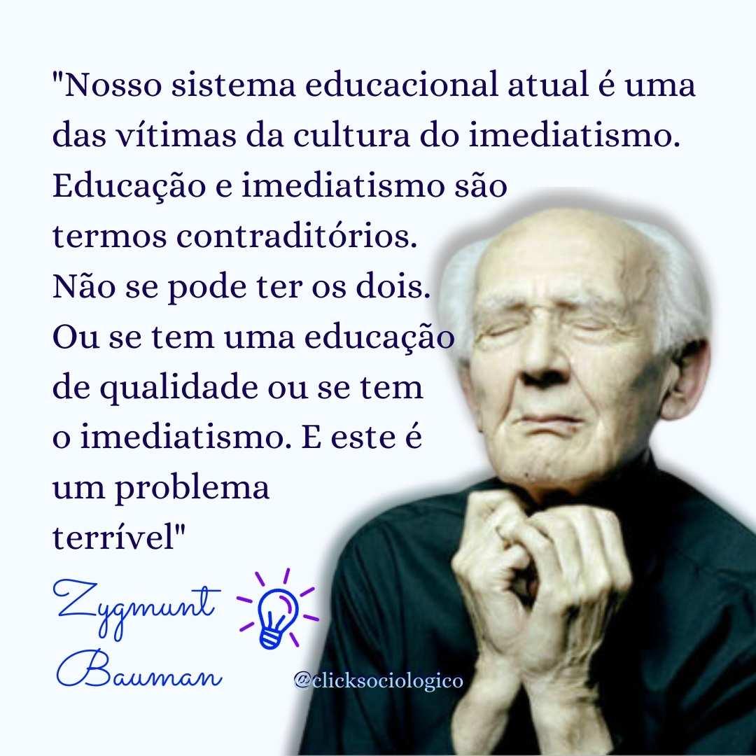 Bauman reflete sobre a educação