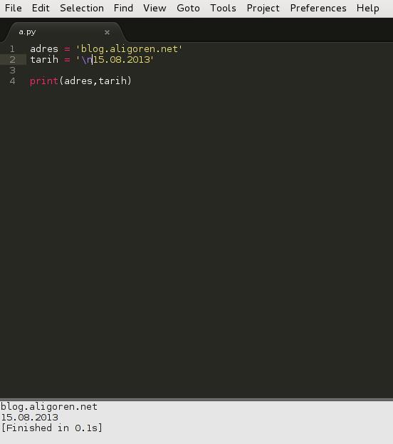 Sublime Text 2'de Python 3 ile Çalışmak