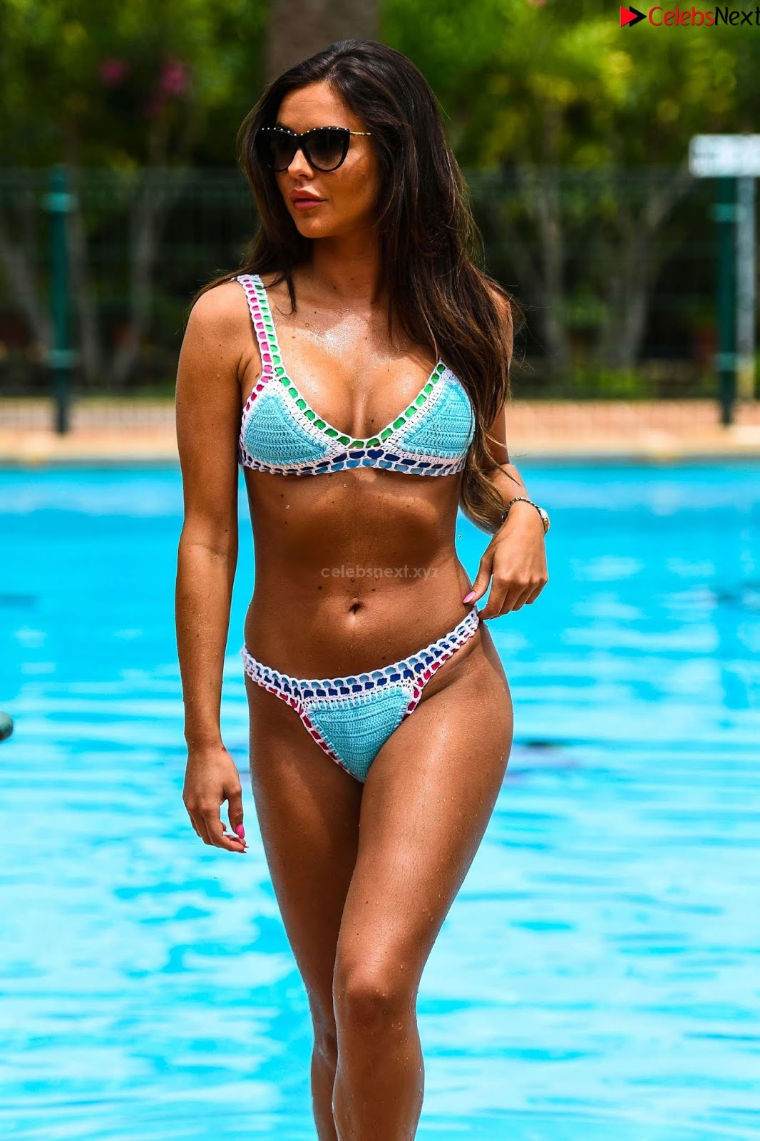 Shelby Tribble in a stunning colorful Bikini hot ass boobs September 2018