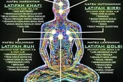 Mengenal 7 Lathifah Simpul Bathin, 7 Titik Batin Yang Kita Sebut Dengan Lathifah