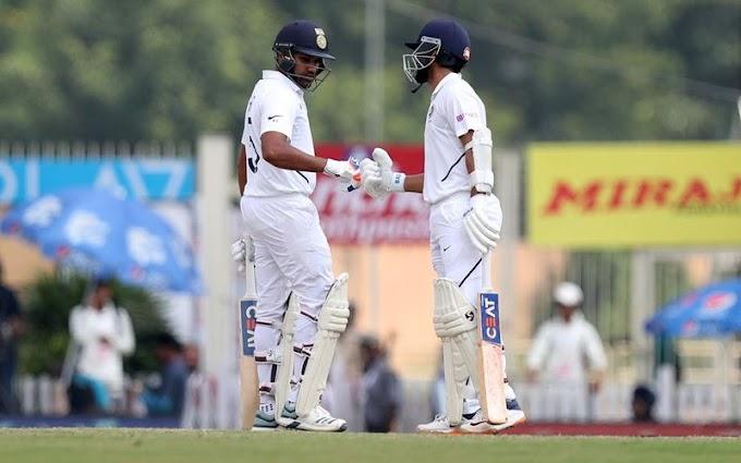 INDvSA 3rd Test Highlights: रोहित ने दोहरा और रहाणे ने  लगाया शतक, भारत की पहली पारी 497 पर घोषित