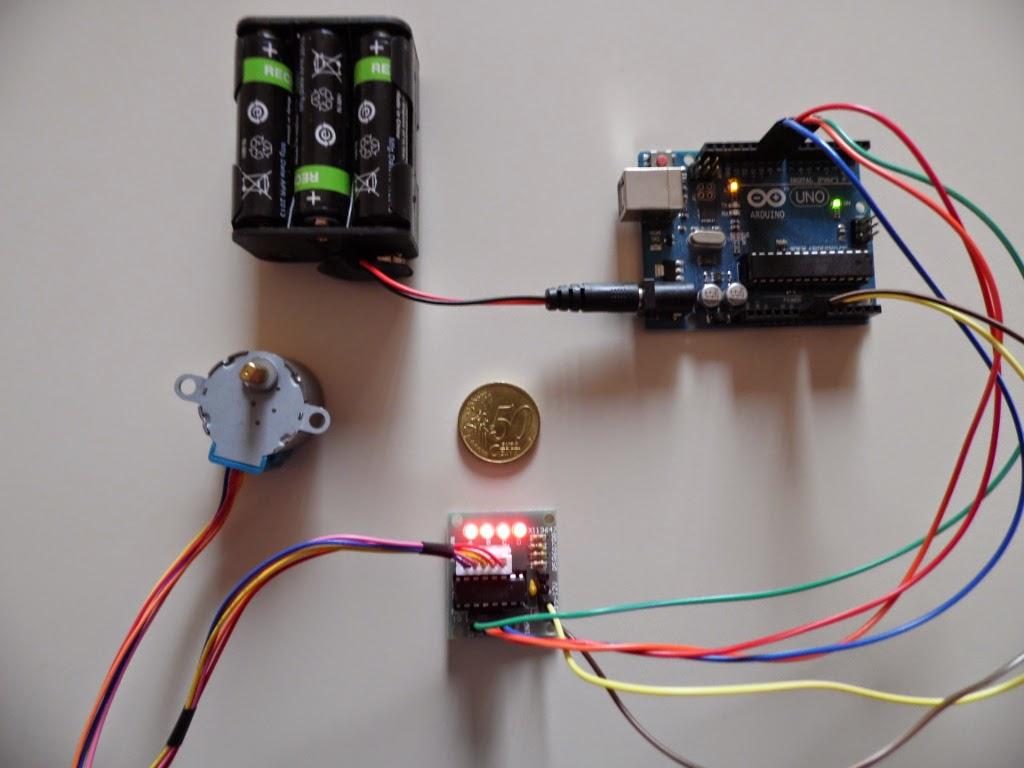 Arduino UNO R3 e motore passo passo 28BYJ-48 - Foto di Paolo Luongo