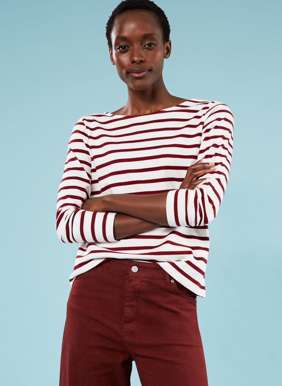 baukjen Emma organic cotton stripe top