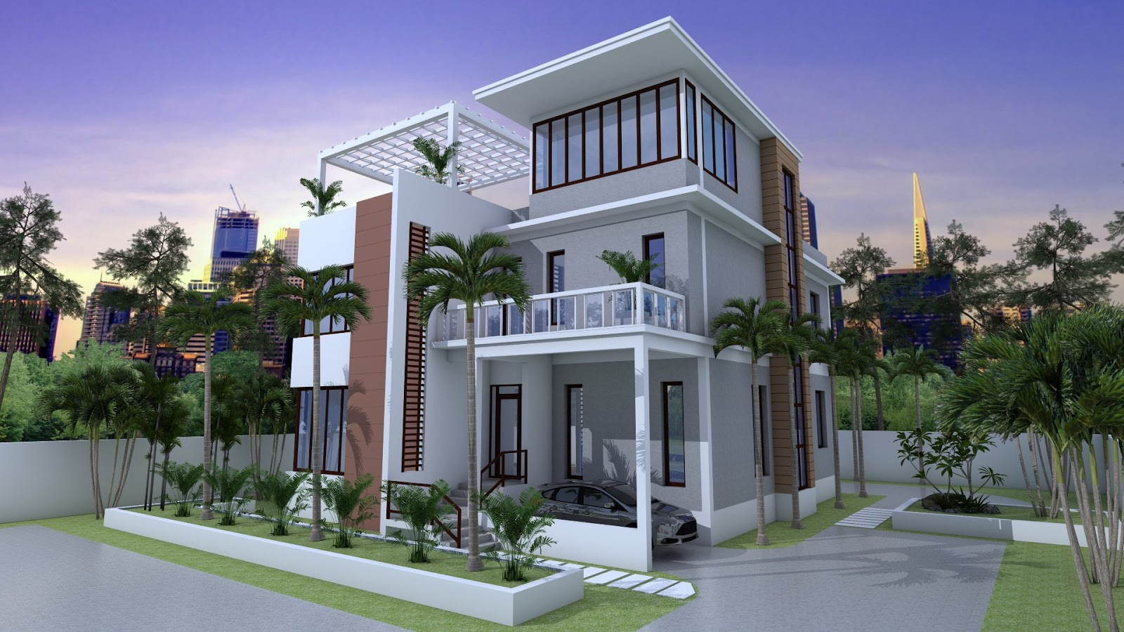 SketchUp Home Plan 12x14m 3 Story House With 4 Bedrooms