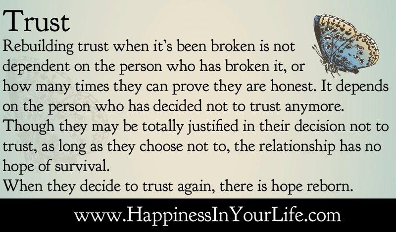 trust broken in relationship to