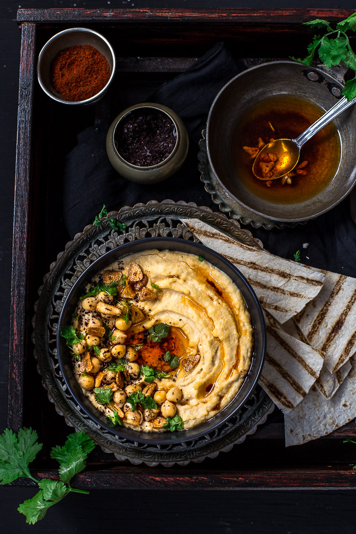 This Turkish style hummus recipe, Turkish Tadka Hummus, incorporates the best flavours from the Middle East. This easy, quick and plant-based dip definitely has that extra kick with an added Tadka.