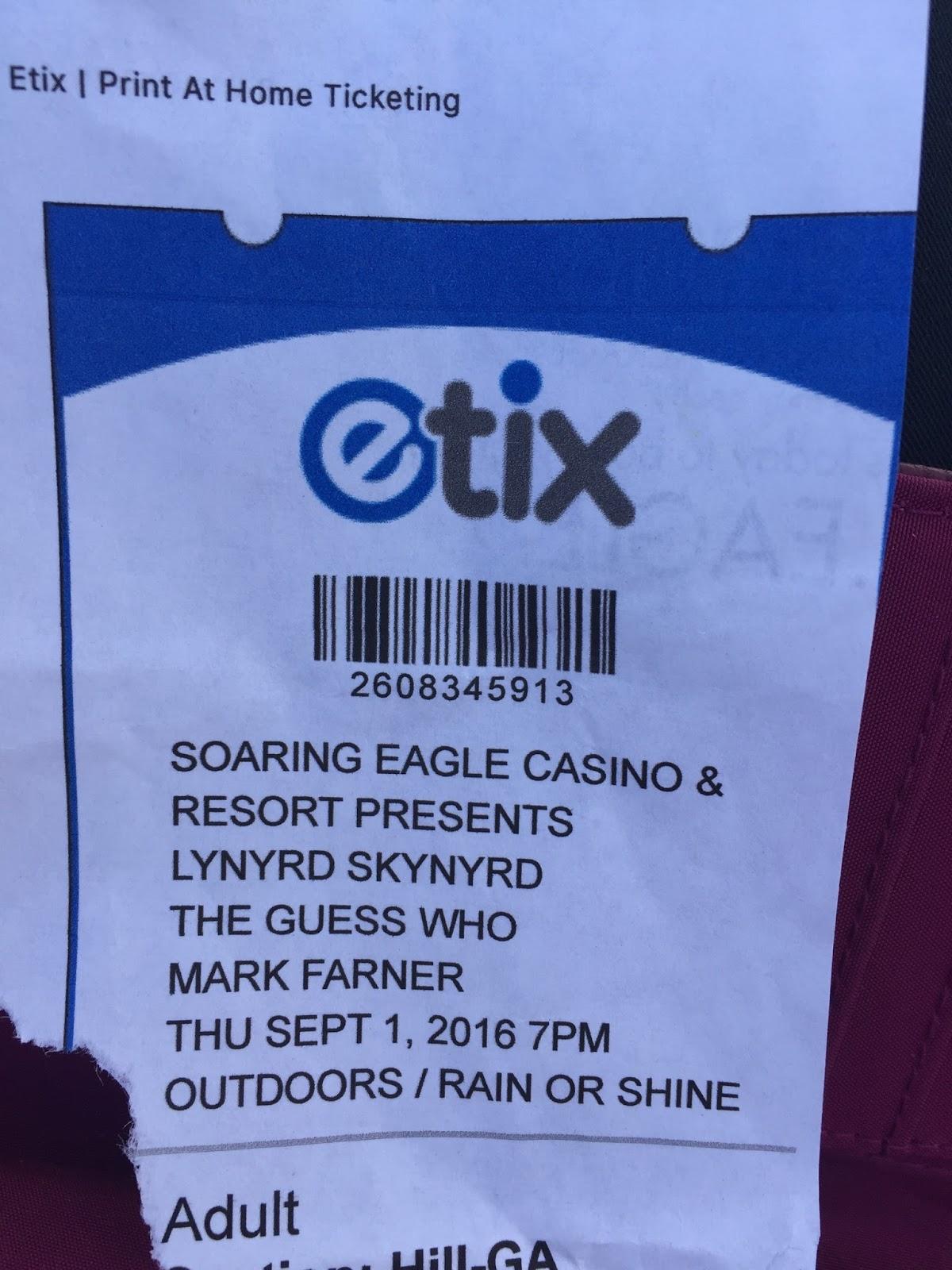 soaring eagle casino concerts 2016