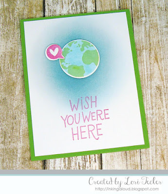 Wish You Were Here card-designed by Lori Tecler/Inking Aloud-stamps and dies from My Favorite Things