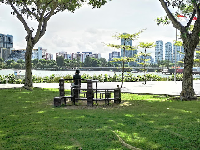 Singapore Sports Hub outdoor public space