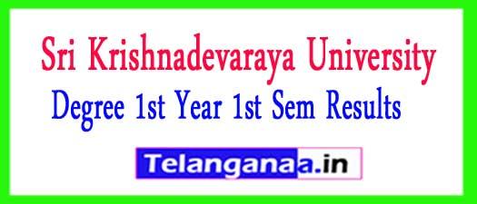 SKU Degree 1st Year 1st Sem Results 2018