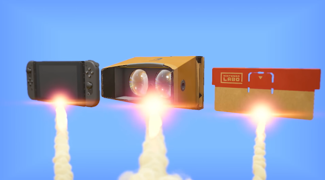Nintendo Switch Labo VR Kit goggles rocket blast off to sky heaven