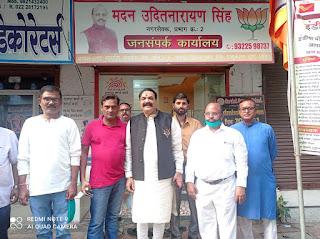 भाजपा बिहार प्रकोष्ठ के अध्यक्ष फूल सिंह भईया ने किया जनसंपर्क  | #NayaSaberaNetwork