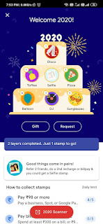Collect Selfie,Toffee and Disco stamps-Gpay stamps