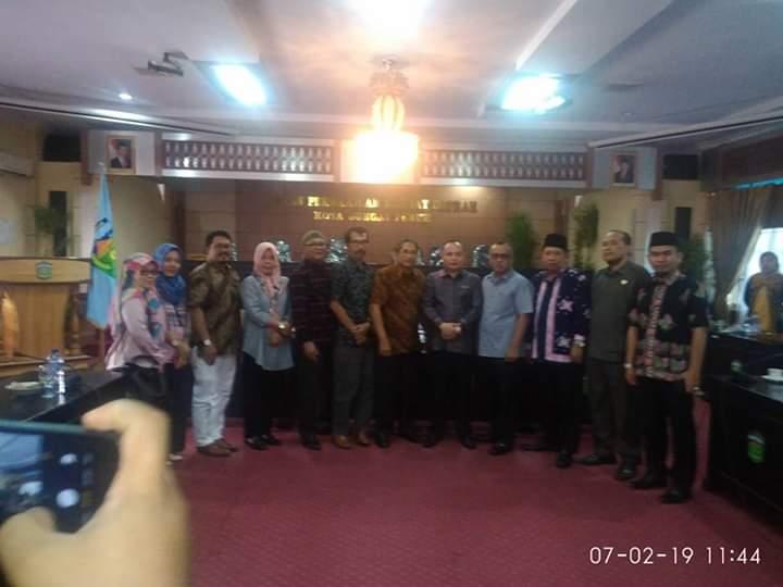 DPRD Sungai Penuh Terima Kunjungan Anggota Dewan Sawah Lunto