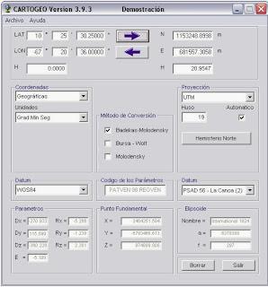 Imagen del software CARTOGEO