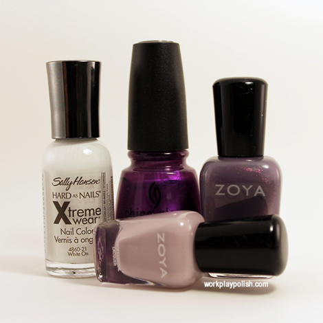 Purple Plaid with Zoya and China Glaze