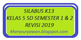 Silabus K13 Kelas 5 Sd Semester 1 2 Revisi 2020 Kherysuryawan Id