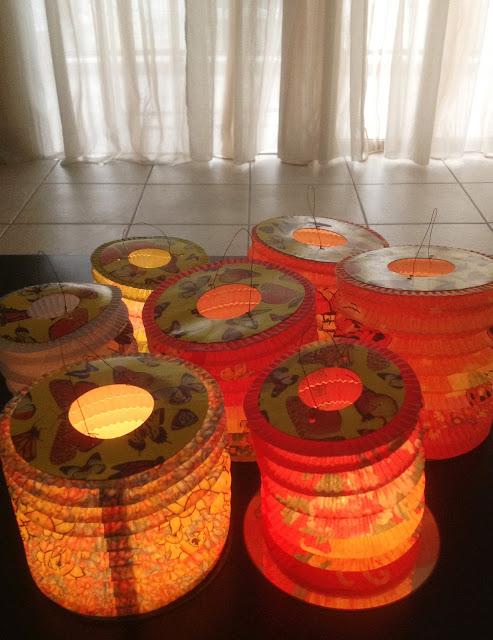 Paper Lanterns centrepiece