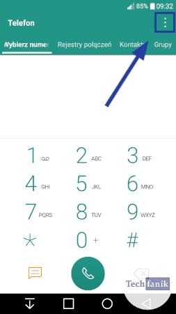 Aplikacja telefon w LG
