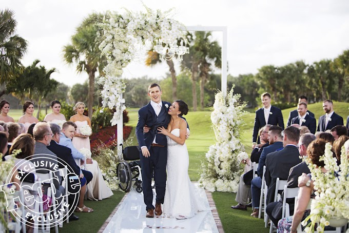 Man walks down Aisle on Wedding Day 7 Years after becoming Paralyzed