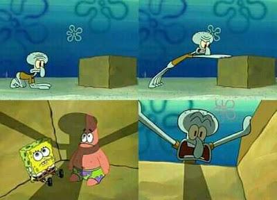 meme spongebob ampuni hamba gusti refrence