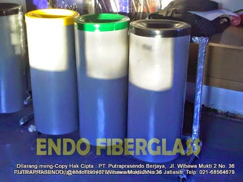 Tong Sampah Fiber Indoor 50 Liter 3in1