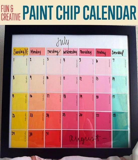 Paint chip calendar.