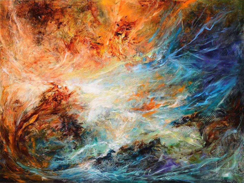 Lukisan Abstrak Hem: 24 LUKISAN ABSTRAK KARYA DARIO CAMPANIL