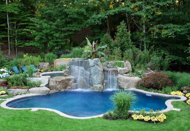 Small Landscaping Around Pool Design