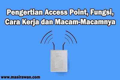 Pengertian Access Point, Fungsi, Cara Kerja dan Macam-Macamnya