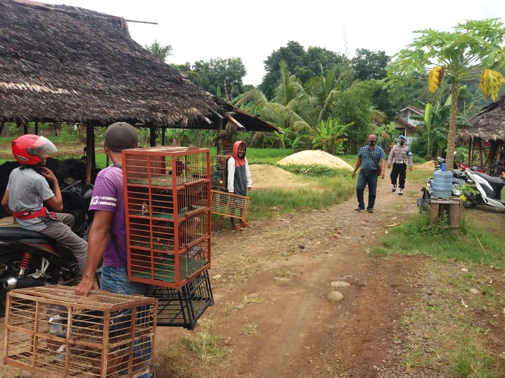 Masih Beraktivitas Saat PPKM,  Tiga Lapak Merpati Ditutup Satgas Covid-19 Kecamatan Padamara