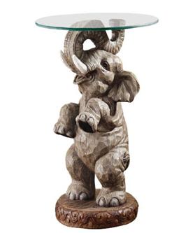Design Toscano EU32144 Good Fortune Elephant End Table