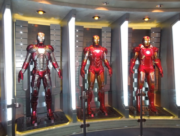 Iron Man armors Tomorrowland exhibit