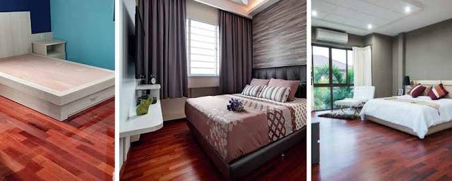 lanta kayu kamar tidur