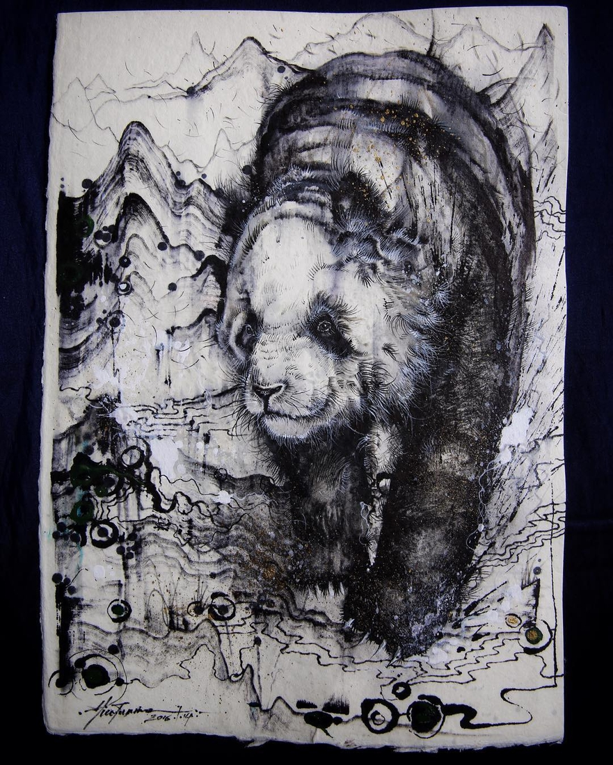 10-Panda-Hua-Tunan-Animal-Sketch-Drawings-and-Mural-Paintings-www-designstack-co