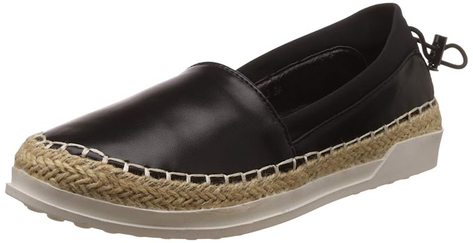 Rs,419/- Red Pout Women's Black Boat Shoes