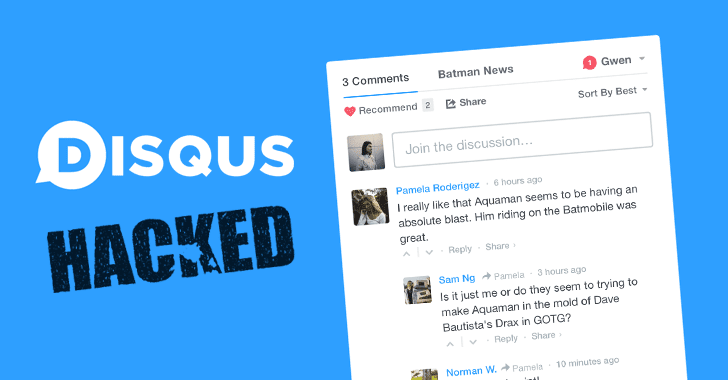 Disqus Hacked: More than 17.5 Million Users' Details Stolen in 2012 Breach