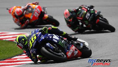 MotoGP, Moto2, Moto3, Litar Antarabangsa Sepang, Sport, Hafizh Syahrin, Valentino Rossi, SIC, Sepang International Circuit, Marc Marquez, Yamaha, Honda, Monster Tech3, Keputusan MotoGP di Litar Antarabangsa Sepang, Malaysia,