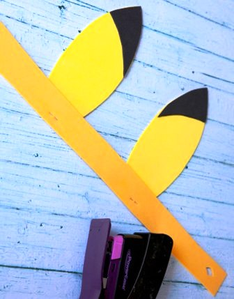 Bikin Sendiri Bando / Ikat Kepala Pikachu dari Kertas