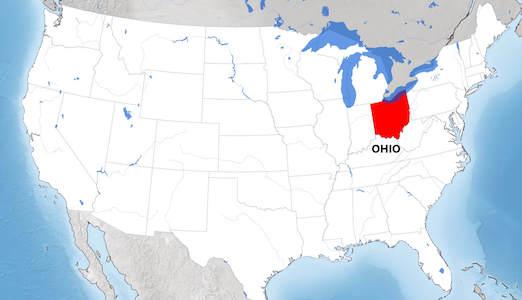 Ohio harita
