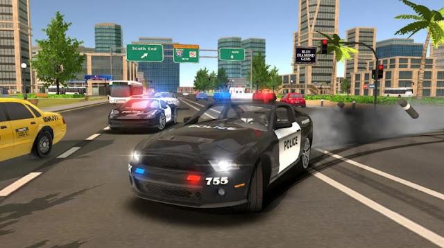 لعبة محاكاة قيادة و انجراف سيارة الشرطة Real Police Car Drift Driving Simulator 3D 1