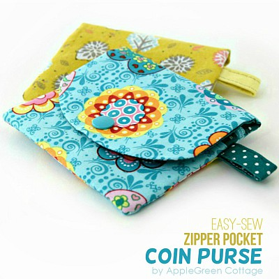 ZIP Pocket Coin Purse Pattern