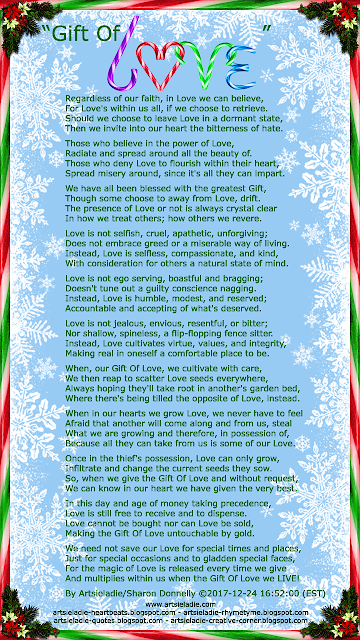 Christmas poem/art by Artsieladie