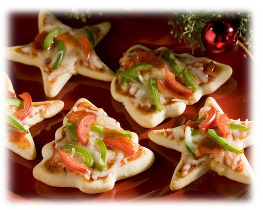 Christmas Cookie Cutter Pizzas