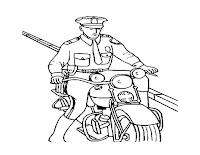 דף צביעה שוטר