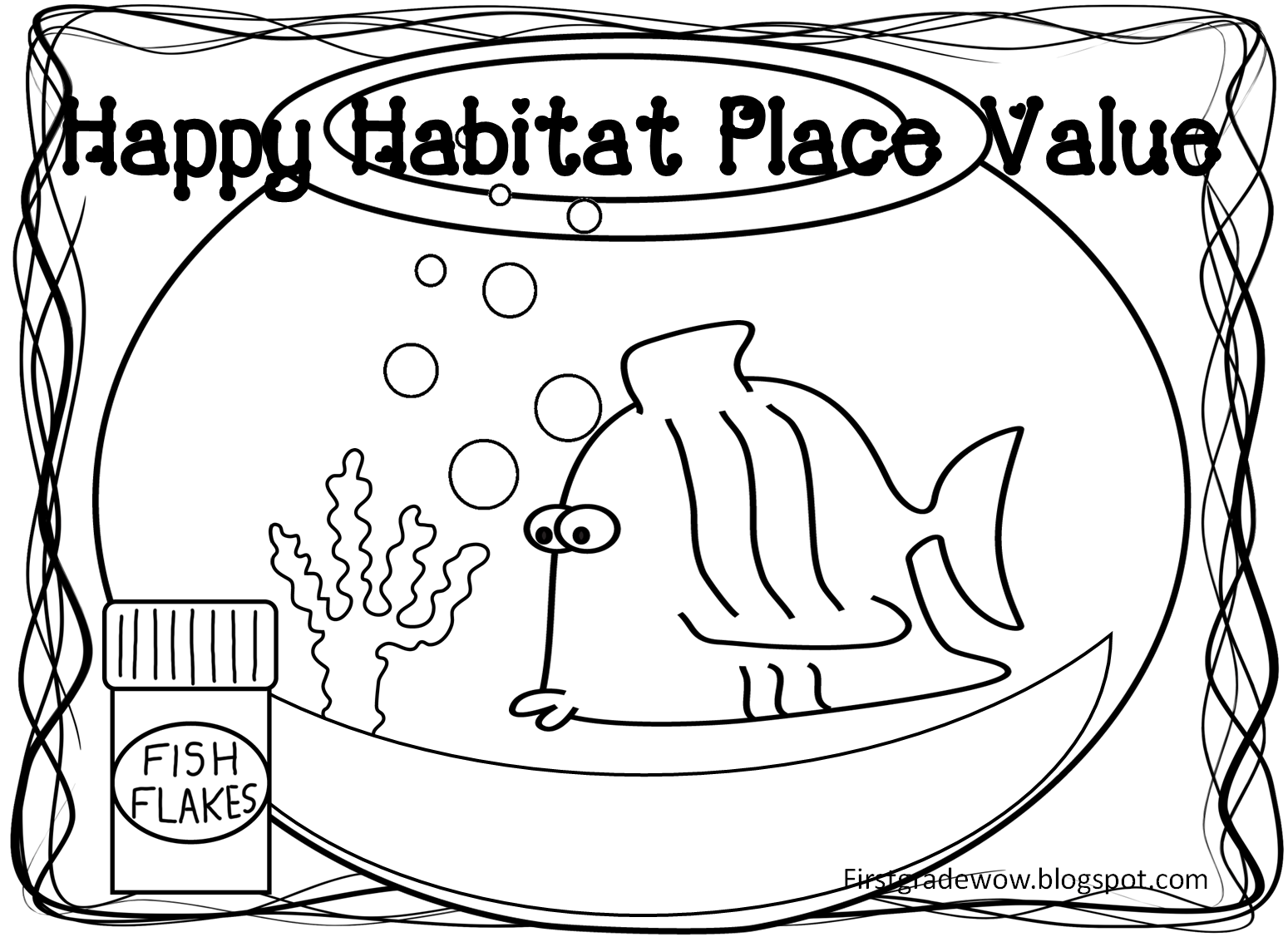 First Grade Wow Happy Habitat Place Value Practice